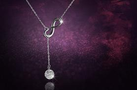 £8 instead of £39 (from Elle and Be) for an infinity Y necklace made with Swarovski Elements - save 79%