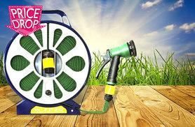 £7.99 instead of £37 (from Zoozio) for a 50ft lay flat garden hose with spray nozzle - save 78%