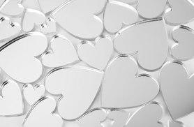 £3 instead of £16.99 (from Mungai Mirrors) for a set of 50 heart-shaped craft mirrors, or £5 for 10 - save up to 82%