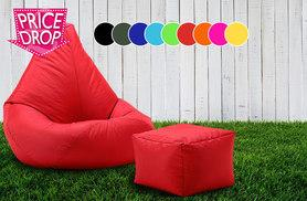 £29 instead of £89.05 (from UK Beanbags) for a highback outdoor beanbag with a matching footstool - choose from 9 colours and save 67%