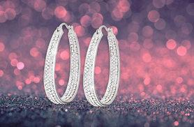 £6 instead of £68 (from Evoked Design) for a pair of inside-out crystal hoop earrings made with Swarovski Elements - save 91%