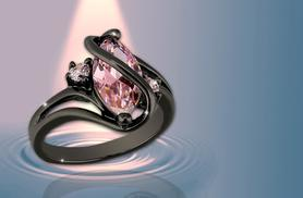 £34.99 instead of £279 (from Your Ideal Gift) for a 2.5ct pink sapphire and black gold ring - sparkle and save 87%