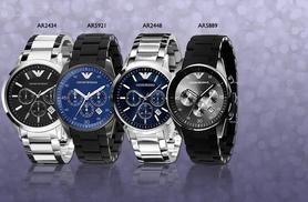 From £149 instead of £349 for a men's Emporio Armani watch from Wowcher Direct - choose from four designs and save up to 57%