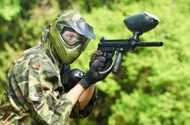 £4.99 for a paintballing day for up to five people including 100 balls each, £9 for up to 10 or £17 for up to 20 - choose from 21 UK locations and save up to 90%