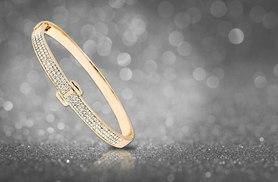 £8 instead of £49.99 (from Marcus Emporium) for a Swarovski Elements gold plated bangle - save 84%