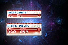 £6.99 (from Mobileheads) for 24 AA or AAA Philips batteries or £9.99 for 32 AA or AAA - save a powerful 53%