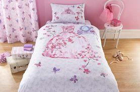 £9.99 instead of £39.99 (from Groundlevel.co.uk) for a dinosaur design single duvet cover set, £11.99 for a princess design - save up to 75%