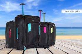 £10 instead of £27.99 (from SA Products) for cabin-approved wheelie hand luggage - choose from four colours and save 64%
