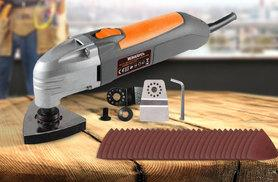 £17.99 (from Futura Direct) for a 180w oscillating multi-tool, £22.99 for an 800w angle grinder with four discs, £24.99 for a 750w compact jigsaw - save up to 67%