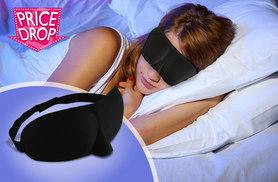 £1.98 instead of £14.99 (from Quick Style) for a 3D sleep mask, £1.98 for two - sleep tight and save up to 87%