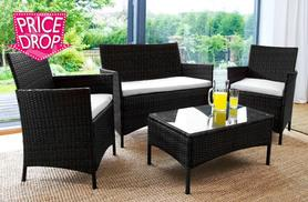 £129 instead of £679.01 for a four-piece luxury rattan garden furniture set in black or brown - save 81%