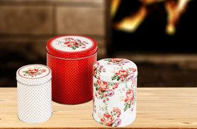 £4.99 instead of £14.49 for a set of three vintage-inspired Katie Alice storage tins - save 66%