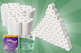 £13.99 for 54 Softesse toilet rolls and 24 kitchen rolls, or £15.99 for 45 aloe vera scented toilet rolls and 24 kitchen rolls - save up to 53%