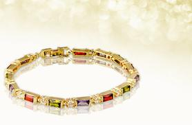 £6 instead of £49.99 (from Marcus Emporium) for a multicoloured crystal bracelet made with Swarovski elements - save 88%
