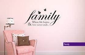 From £6 for an inspirational wall sticker, or £11 for two