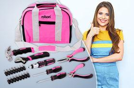 £17.99 instead of £33.01 (from Rolson Tools) for a 25-piece Rolson pink tool bag kit - save 46%