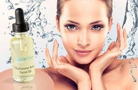 £7.99 instead of £64.96 (from Clear Skin Cosmetics) for a 30ml bottle of hyaluronic acid facial oil, or £15 for two bottles - save 88%