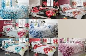 £14.99 for a 8-piece double bed set including curtains, £17.99 for king size - choose from 15 designs and save up to 77%