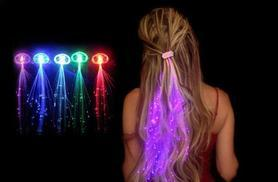 £5 instead of £16.99 (from Quick Style) for a set of five LED hair extensions, £8 for a set of 10 - glow crazy and save up to 71%