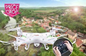 £34 instead of £129.99 (from Gizmo Gadgets) for a remote-controlled quad-copter aircraft drone with a HD camera - save 74%