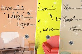 £9 instead of £29 for a wall sticker made with Swarovski elements from a choice of six styles or £15 for two + DELIVERY INCLUDED - save up to 70%