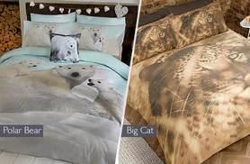 £10 for a single printed animal duvet set, from £14 for a double set or from £17 for a king set from Wowcher Direct - choose from five designs!