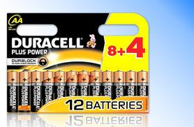 £3.49 instead of £9 for 12 AA or AAA Duracell Plus Power batteries, £6.99 for 24, £10.99 for 36 or £17.99 for 60 - save up to 61%