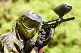 £9 for a paintball day for 5 people, lunch and 100 paintballs*, £18 for 10 people, or £35 for 20 with Mayhem South East - choose from 8 locations and save up to 82%