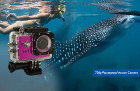 £29 instead of £49.99 for a HD 720p waterproof action camera, or £35 for a HD 1080p camera - save up to 42%