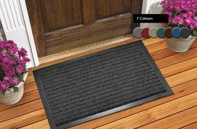 From £4.99 instead of £29.95 (from The Rug Shop) for a 'dirt grabber' doormat in a choice of six sizes and seven colours and five sizes - save up to 83%