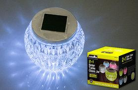 £5.99 instead of £16 (from Zoozio) for a solar table glass jar light, £11.99 for two - light up and save up to 63%