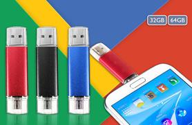 £9.99 instead of £28 (from Electronics and Gadgets Direct) for a 32GB 2.0 flash drive, or £11.99 for 64GB - choose from three colours save up to 64%