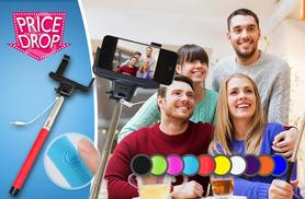 £5.99 insetad of £39.99 (from Planet of Accessories) for an all-in-one selfie stick with cable connection - choose from 10 colours and save 85%