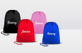 £4.99 instead of £14.99 (from Treats on Trend) for a personalised drawstring bag - choose from four colours and save 67%