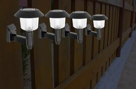 £6.99 instead of £16 (from Zoozio) for a pack of four solar wall lights, £11.99 for eight lights and £16.99 for twelve - let your garden glow and save up to 56%