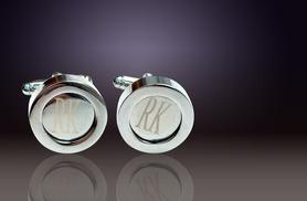 £10 instead of £57 (from Marcus Emporium) for a pair of 925 silver-plated personalised initial cufflinks - save 82%