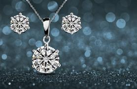 £6 instead of £49.99 (from Marcus Emporium) for a 18ct white gold-plated solitaire necklace set, or £9 for a tri set including a matching ring - save up to 88%