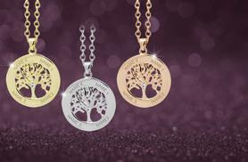 £10 instead of £50 (from Jewelian) for a personalised tree of life necklace - choose from three colours and save a tree-mendous 80%