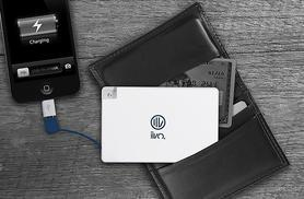 £5.99 instead of £19.99 (from Mobileheads) for an ultra slim credit card-sized smartphone PowerBank - stay charged and save 70%