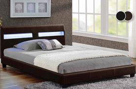 £150 for a double Valencia bed with LED lights, £250 with an orthopaedic mattress, £199 for a king size bed or £299 including a mattress - save up to 57%