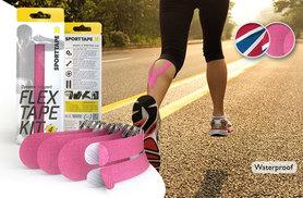 £3.99 (from SportTape) for a Flex Tape athletic support kit - choose from pink or Union Jack designs!