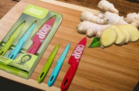 £11.99 instead of £27 for a Jamie Oliver three-piece funky knife set - slice in style and save 56%