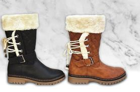 £18 instead of £79.99 (from The Fashion City) for a pair of ladies faux fur-lined winter boots - choose from four designs and save 77%
