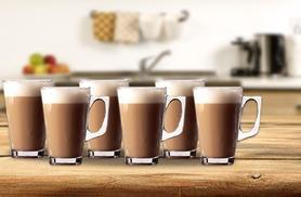 £5.99 instead of £26 (from Zoozio) for a set of six glass latte or cappuccino mugs - save 77%