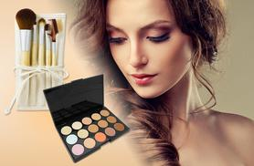 £5 instead of £29.99 (from Quick Style) for a facial contouring palette, £10 with five bamboo eye makeup brushes and a travel case - save up to 83%