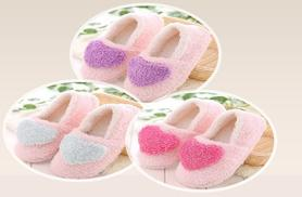 £6 instead of £19.99 (from Shine Accessories) for a pair of ladies' pink slippers with hearts - choose from three heart colours and save 70%