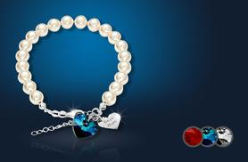 £8 instead of £50 (from Cian Jewels) for a personalised bracelet with a Swarovski Elements heart crystal charm - save 84%