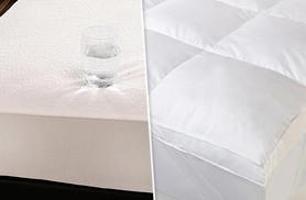 From £9 for a mattress protector or from £19.99 for a luxury duck feather mattress topper - choose from single, double or king sizes and save up to 62%