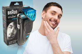 £24.99 instead of £59.99 (from Electronics and Gadgets) for a Braun Cruzer 5 Face All-in-One electric shaver plus styler and trimmer - save 55%