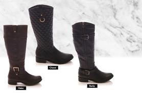£18 instead of £69.99 (from Sole Wish) for a pair of faux leather riding boots - choose from three styles and save 74%